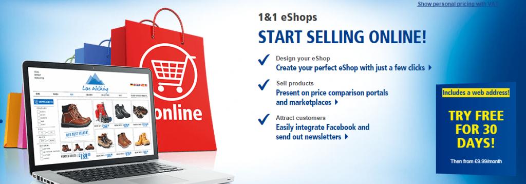 1&1 eCommerce Website Builder