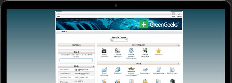 GreenGeeks cPanel
