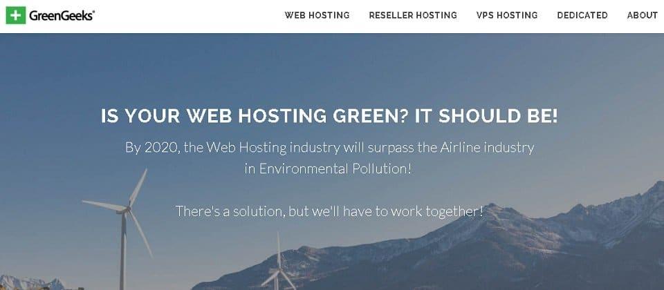 GreenGeeks Green Web Hosting