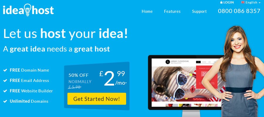 IdeaHost main page