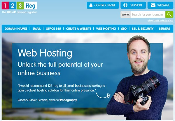 123-Reg Web Hosting Review