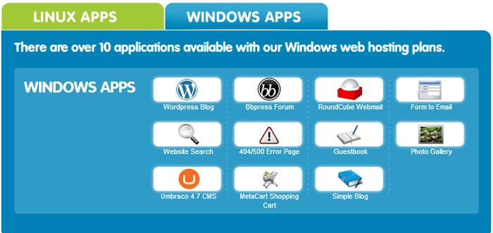 123-Reg Windows Hosting Apps