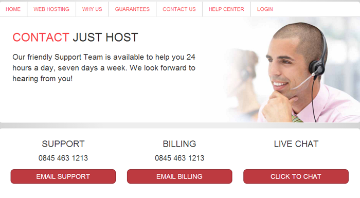Justhost Contact Customer Service