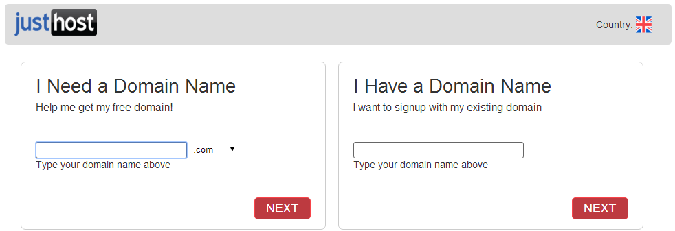 Justhost domain registration