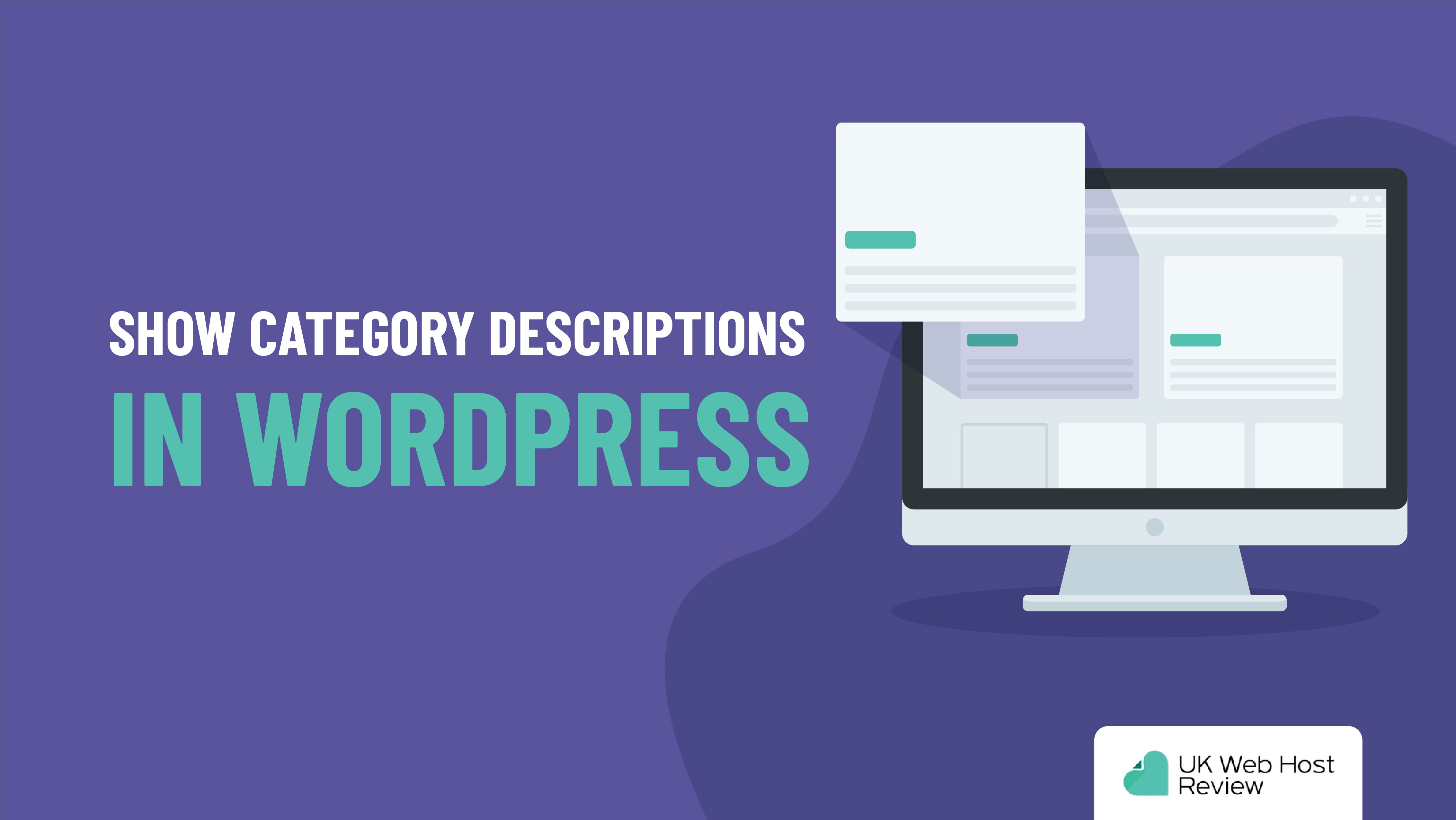 Show Category Descriptions in WordPress