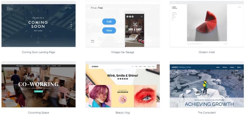 wix templates for wordpress - 5 best ecommerce website builders inc online store builders