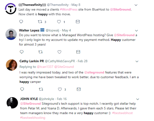 SiteGround Reviews from Customers