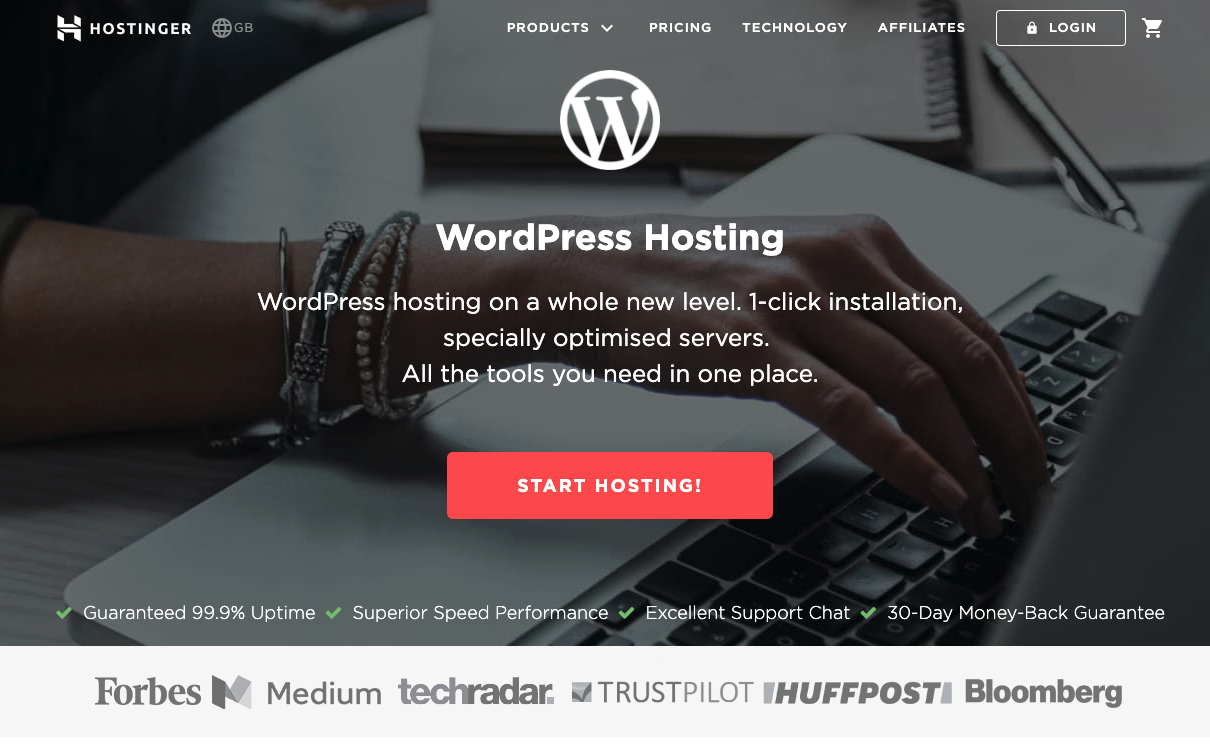 WordPress Hosting by Hostinger