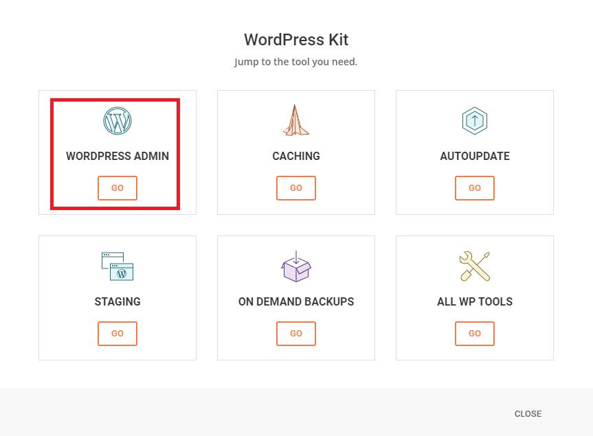 siteground wordpress kit login